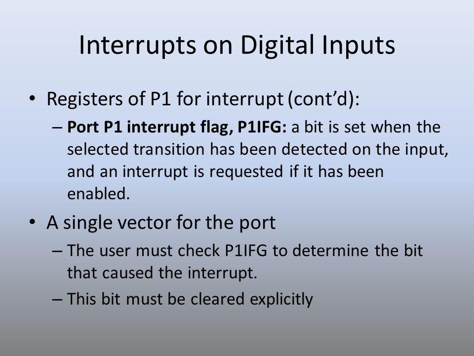 Interrupts on Digital Inputs