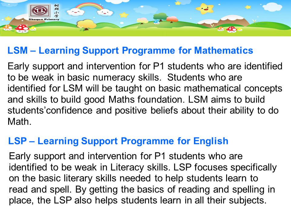 LSM – Learning Support Programme for Mathematics