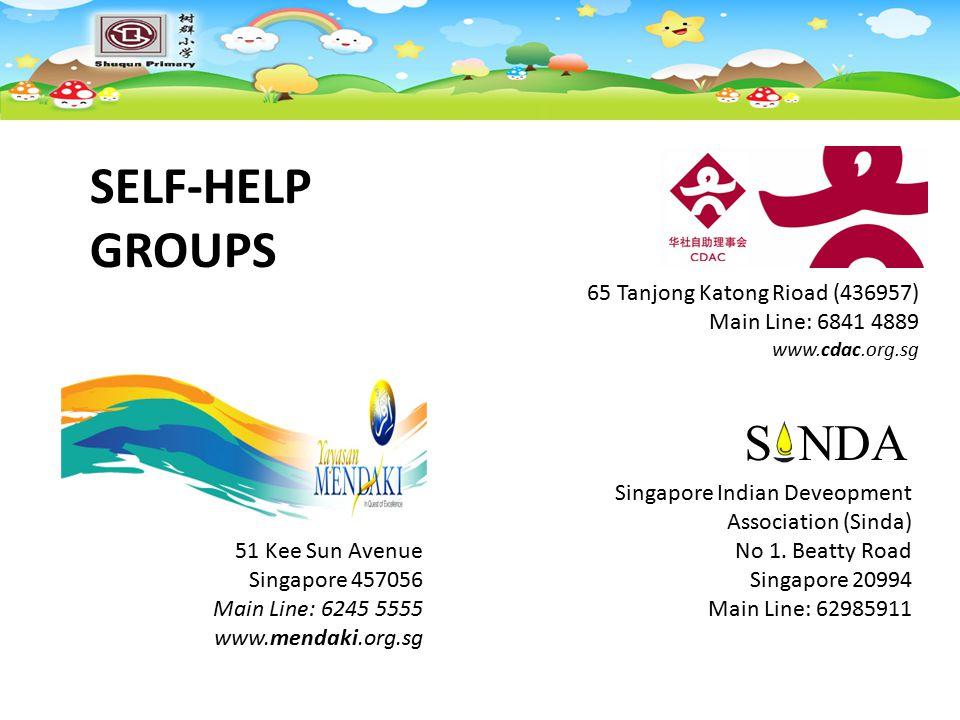 SELF-HELP GROUPS 65 Tanjong Katong Rioad (436957) Main Line: 6841 4889
