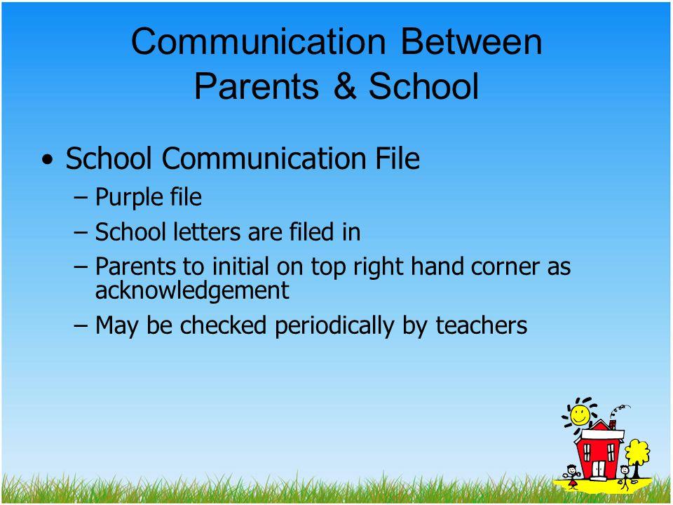 Communication Between Parents & School