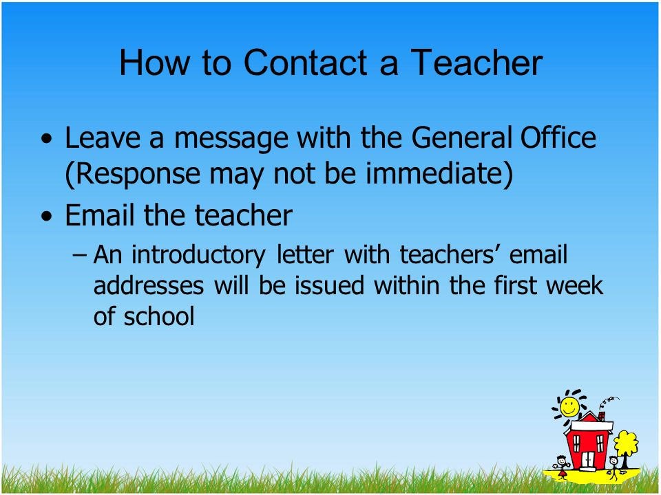 How to Contact a Teacher