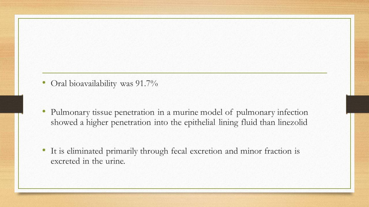 Oral bioavailability was 91.7%
