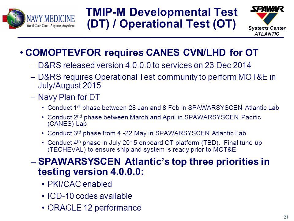 TMIP-M Developmental Test (DT) / Operational Test (OT)