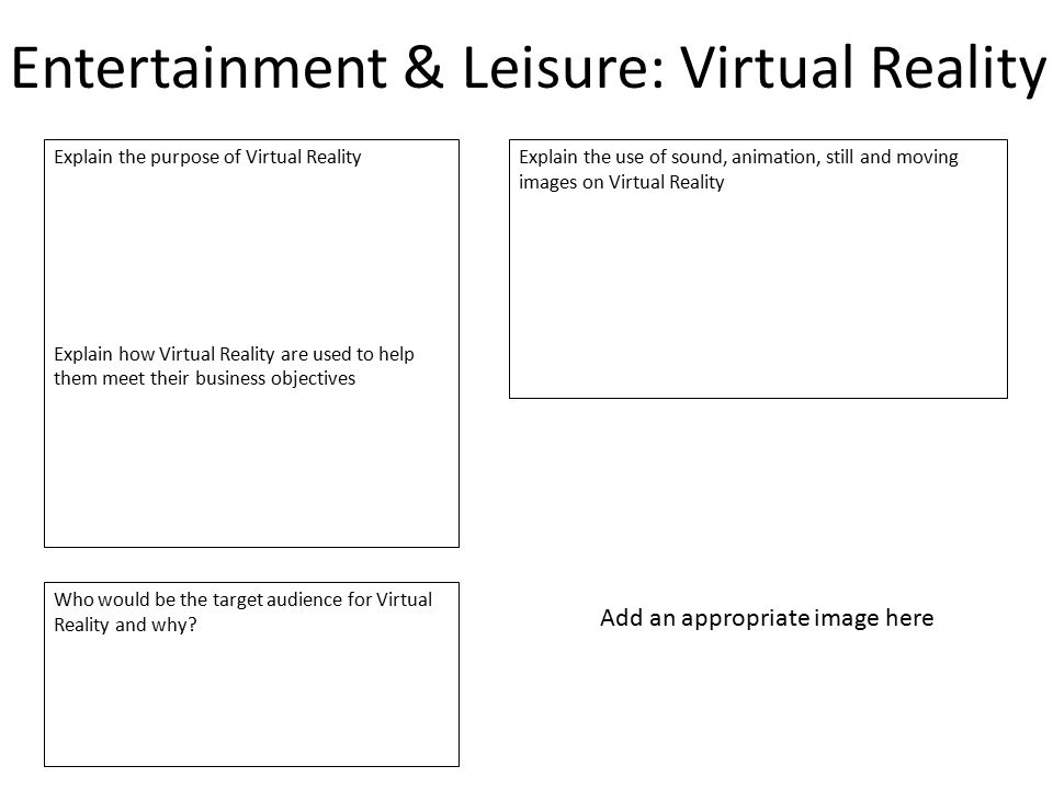 Entertainment & Leisure: Virtual Reality