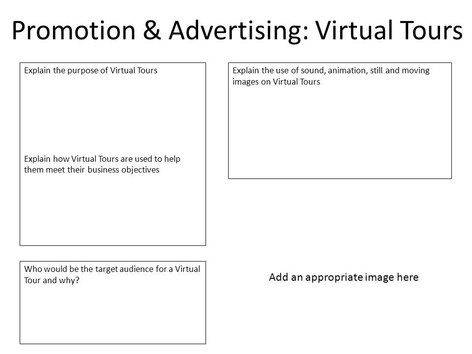 Promotion & Advertising: Virtual Tours