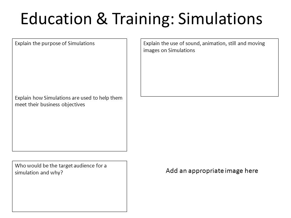 Education & Training: Simulations