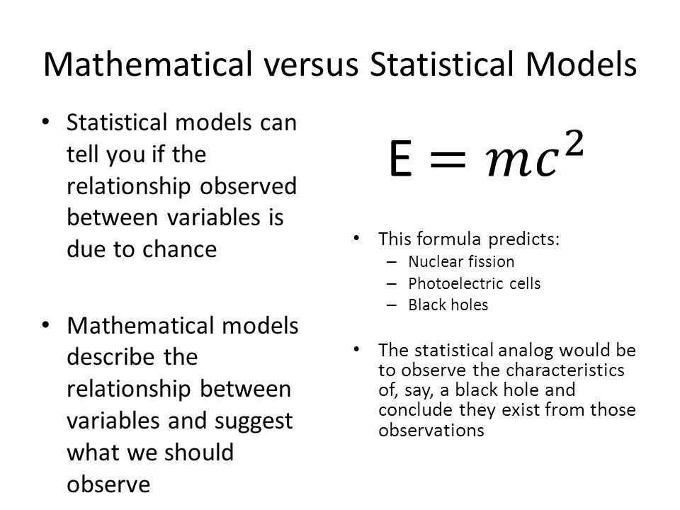 Mathematical versus Statistical Models