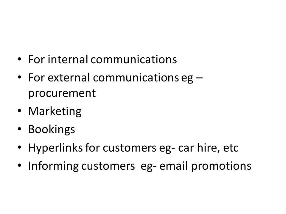 For internal communications