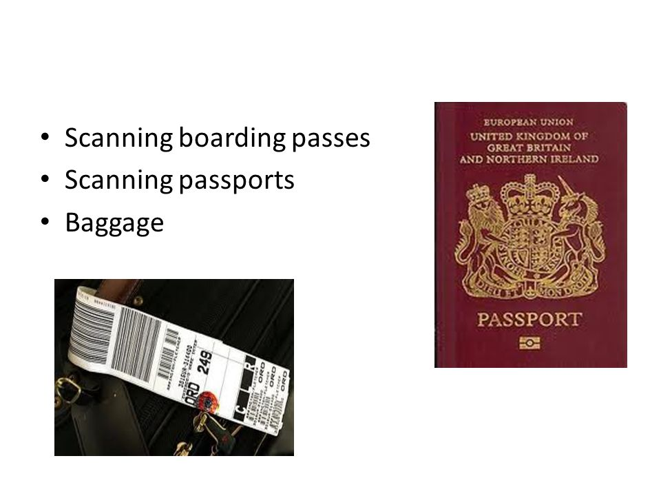 Scanning boarding passes