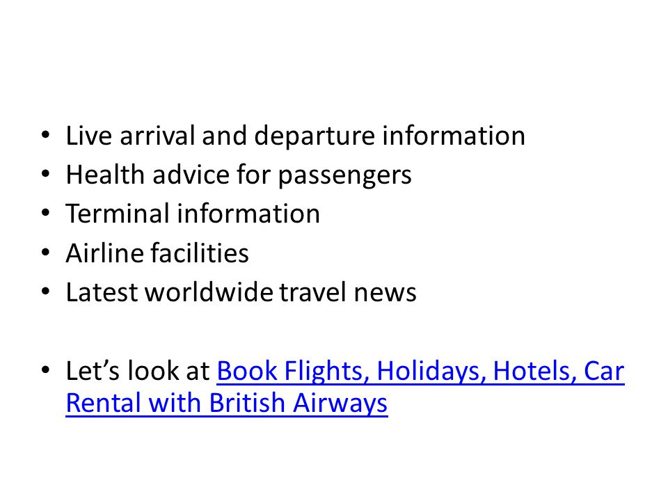 Live arrival and departure information