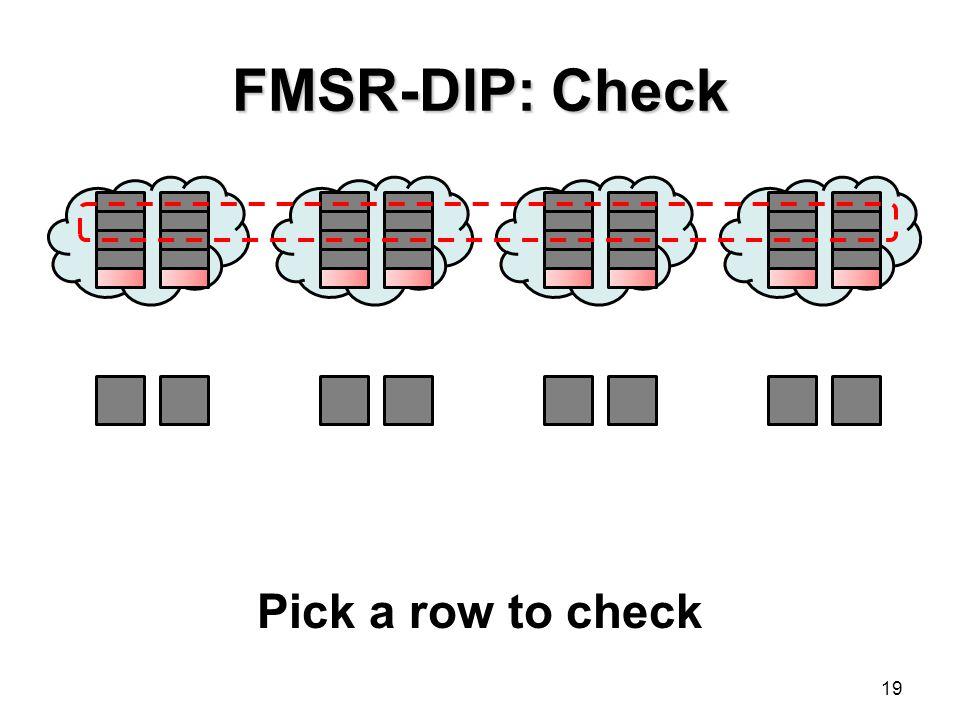 FMSR-DIP: Check Pick a row to check
