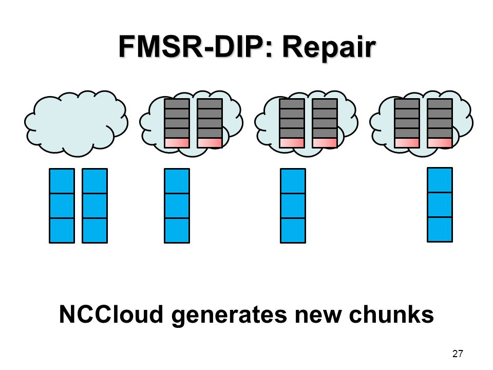 NCCloud generates new chunks