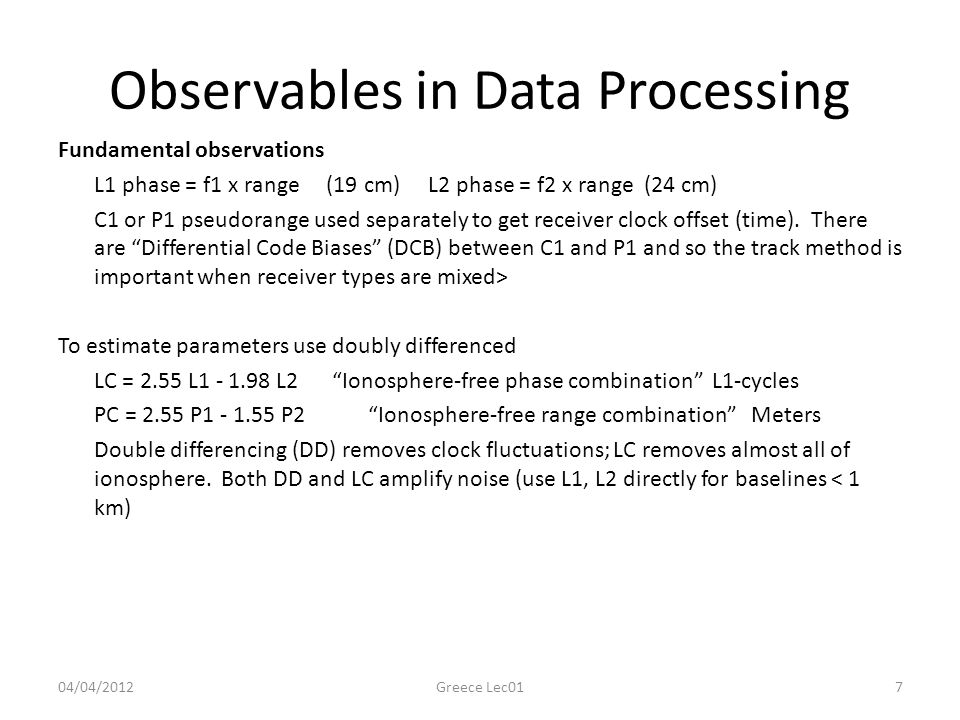 Observables in Data Processing