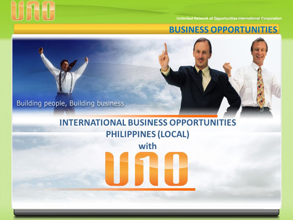 INTERNATIONAL BUSINESS OPPORTUNITIES PHILIPPINES (LOCAL)