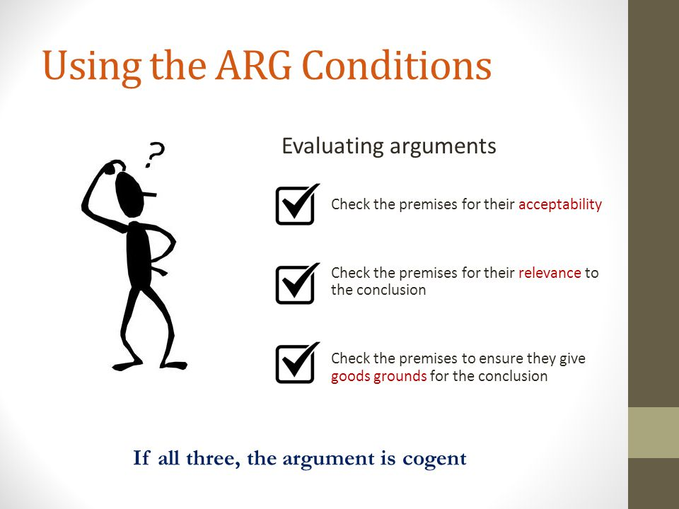 Using the ARG Conditions