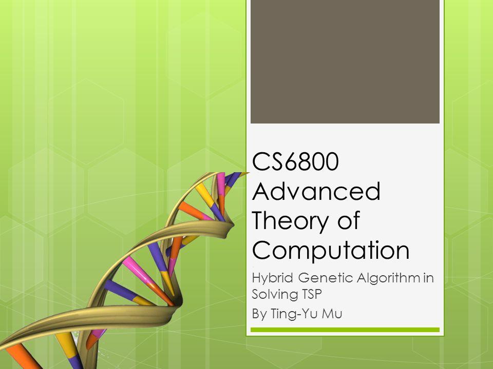 CS6800 Advanced Theory of Computation