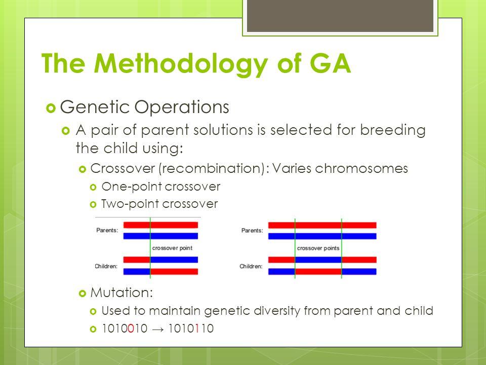 The Methodology of GA Genetic Operations