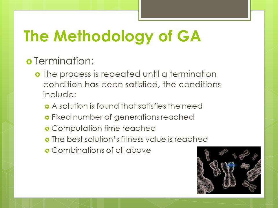 The Methodology of GA Termination: