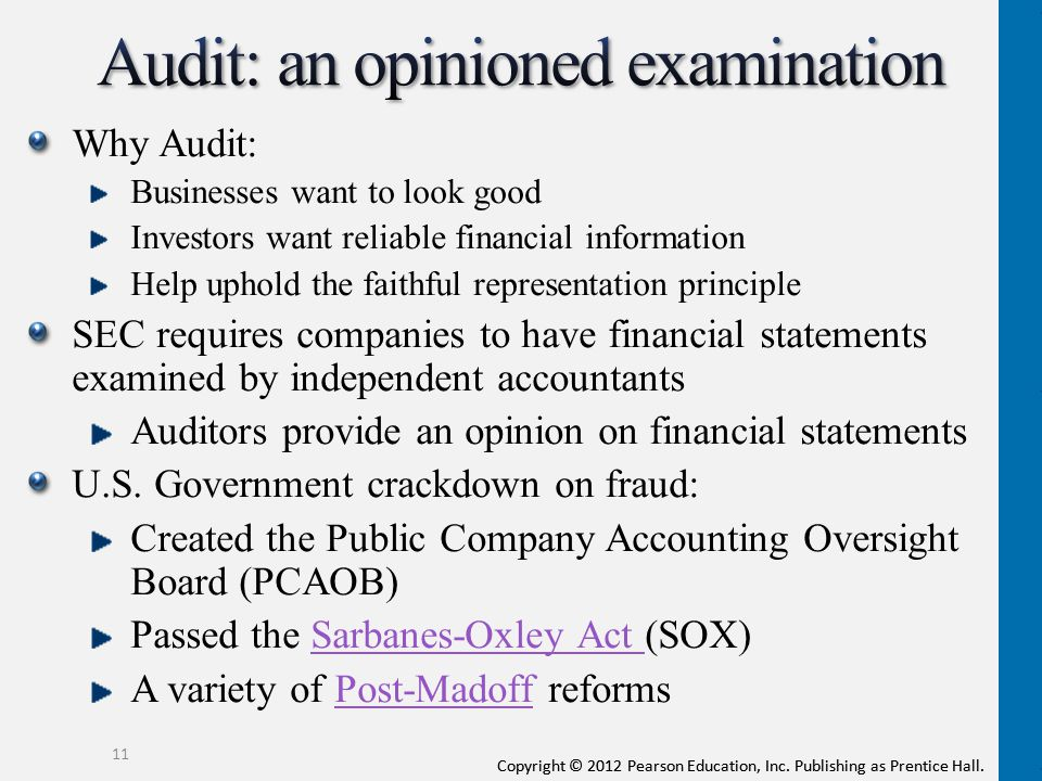 Audit: an opinioned examination
