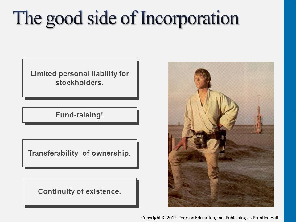 The good side of Incorporation
