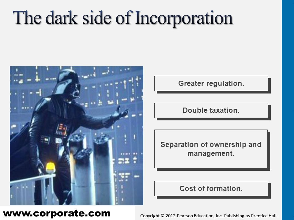 The dark side of Incorporation