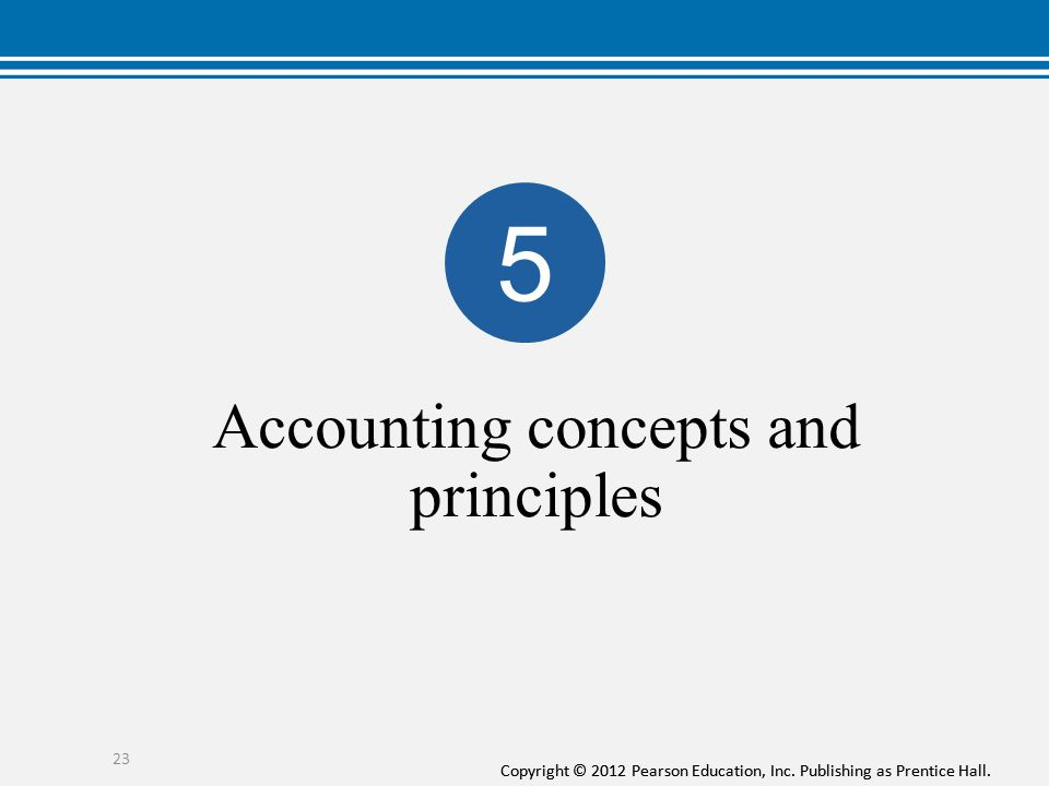 Accounting concepts and principles
