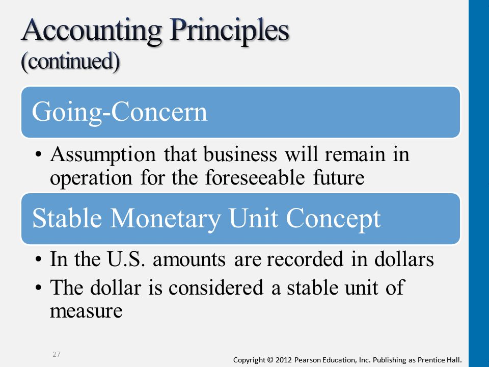Accounting Principles (continued)