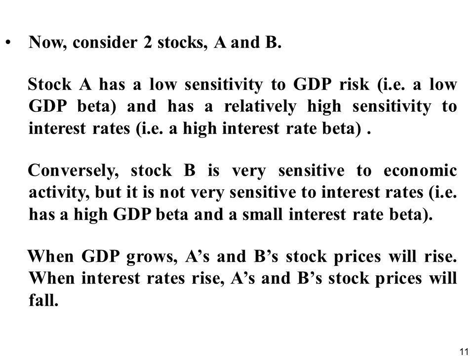 Now, consider 2 stocks, A and B.