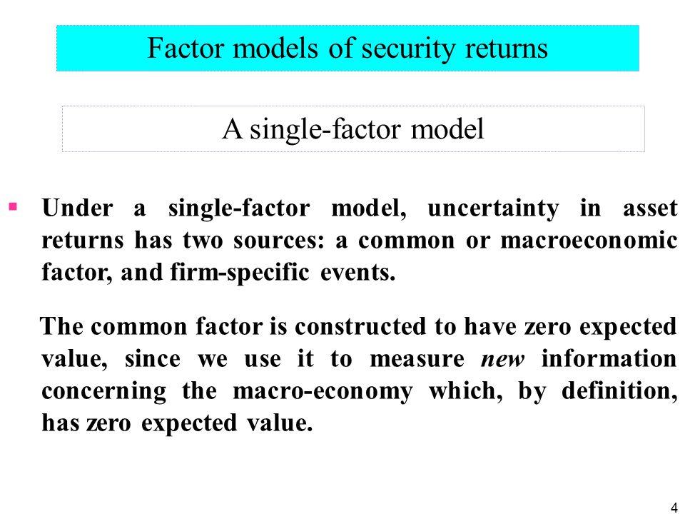 Factor models of security returns