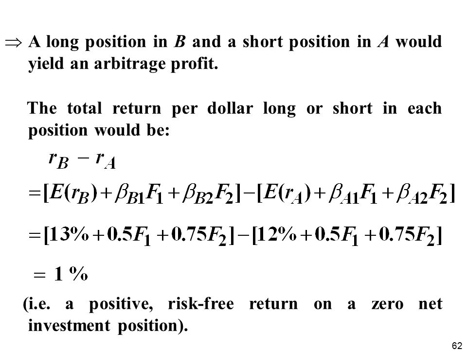 A long position in B and a short position in A would yield an arbitrage profit.