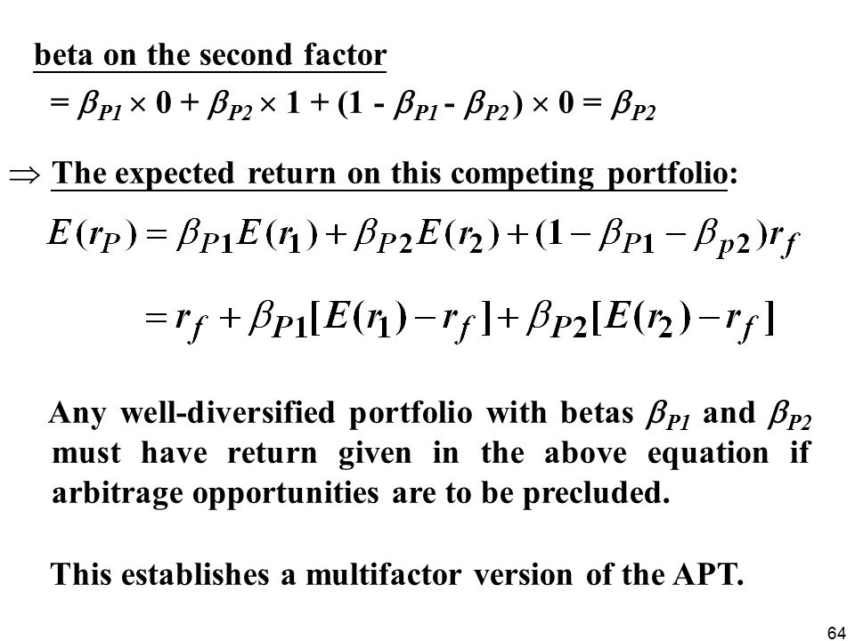 beta on the second factor
