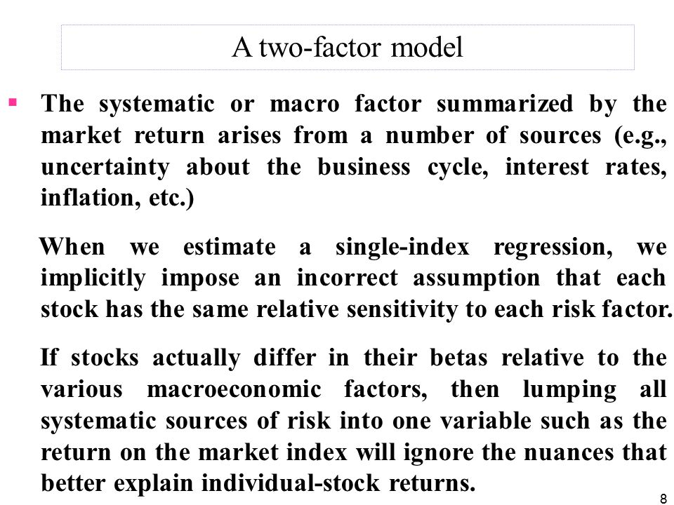 A two-factor model