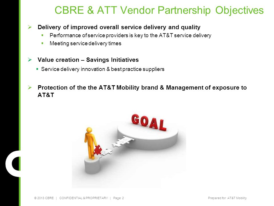 CBRE & ATT Vendor Partnership Objectives