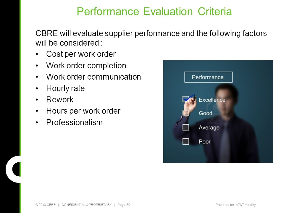 Performance Evaluation Criteria