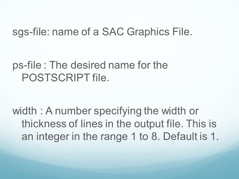 sgs-file: name of a SAC Graphics File