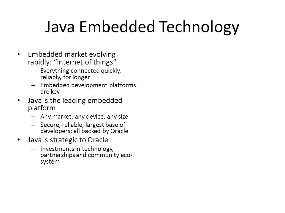 Java Embedded Technology