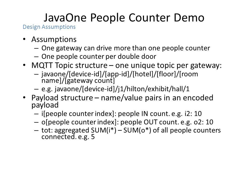 JavaOne People Counter Demo