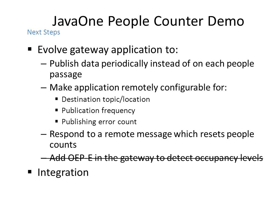 JavaOne People Counter Demo
