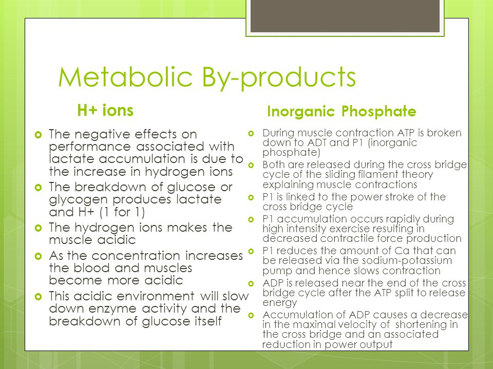 Metabolic By-products