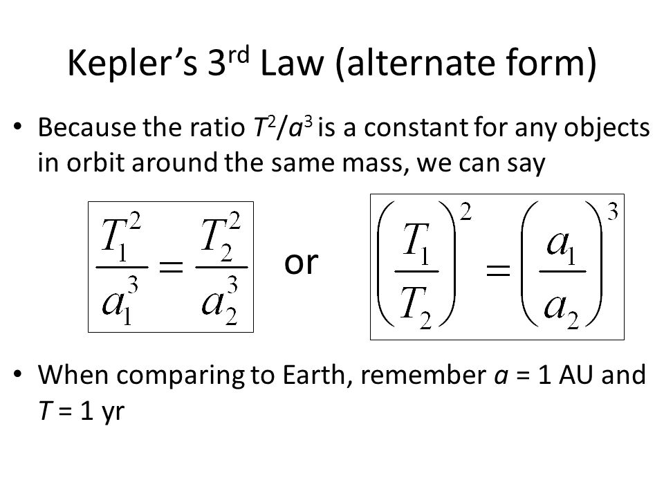 Kepler's 3rd Law (alternate form)