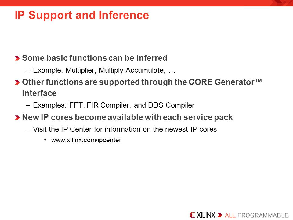 IP Support and Inference