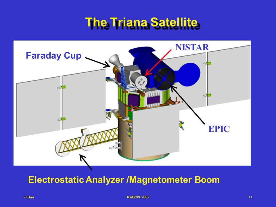 The Triana Satellite NISTAR Faraday Cup EPIC