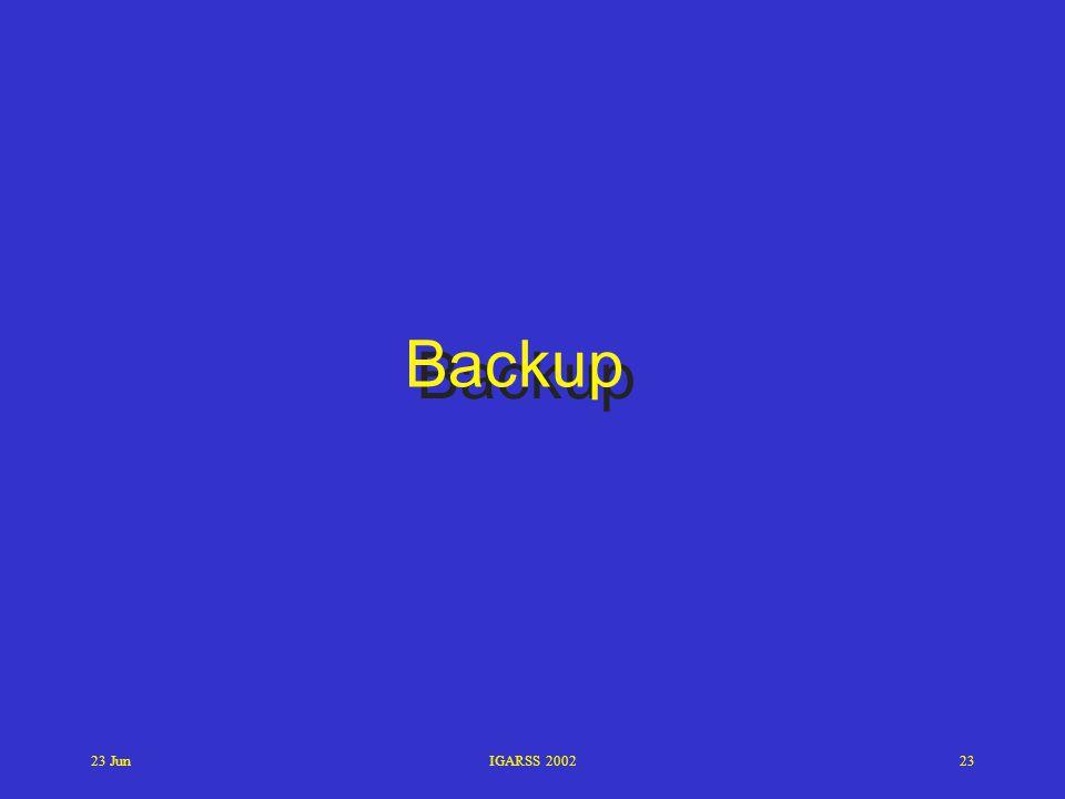 Backup 23 Jun IGARSS 2002