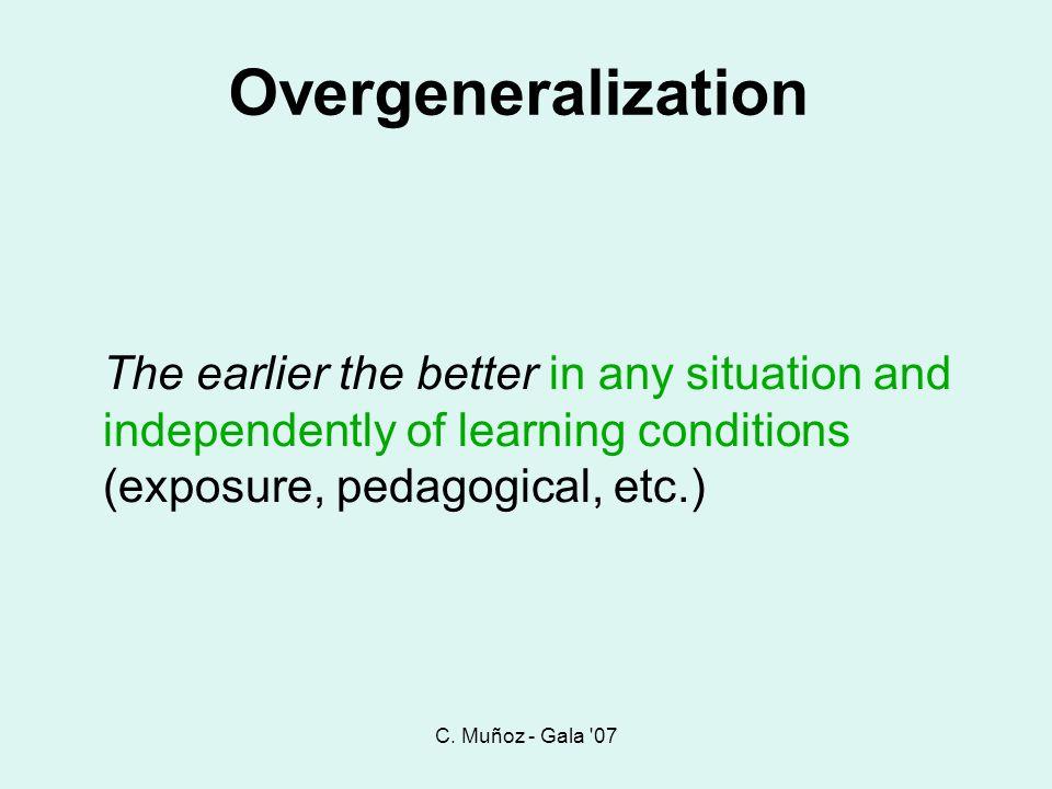 C. Muñoz - Gala 07 Overgeneralization.