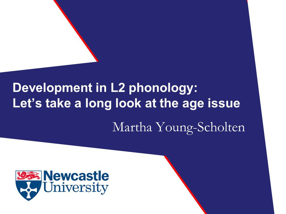 Development in L2 phonology: Let's take a long look at the age issue