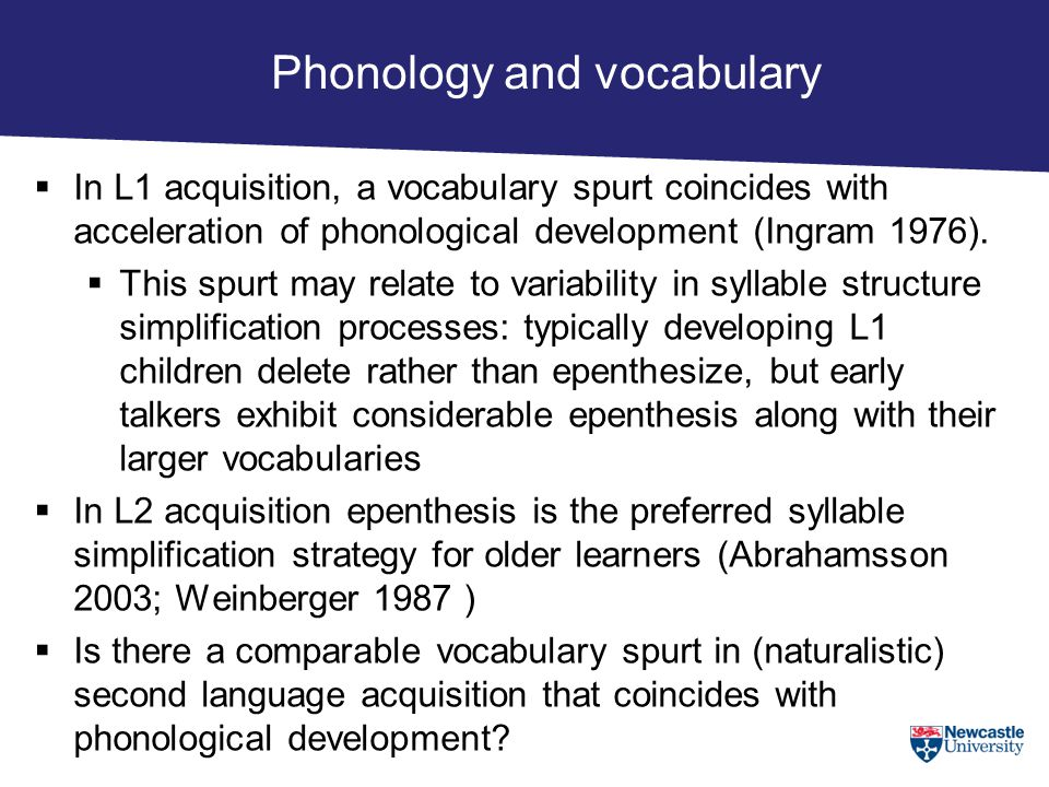 Phonology and vocabulary