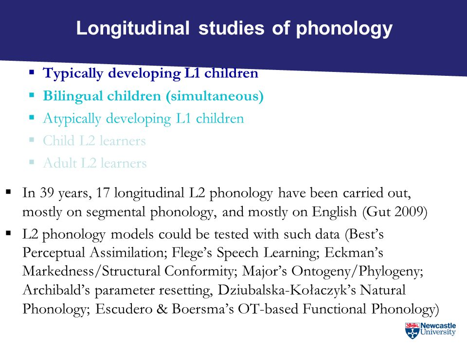 Longitudinal studies of phonology