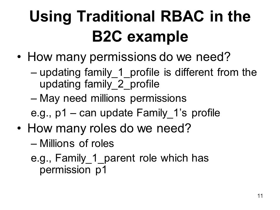 Using Traditional RBAC in the B2C example