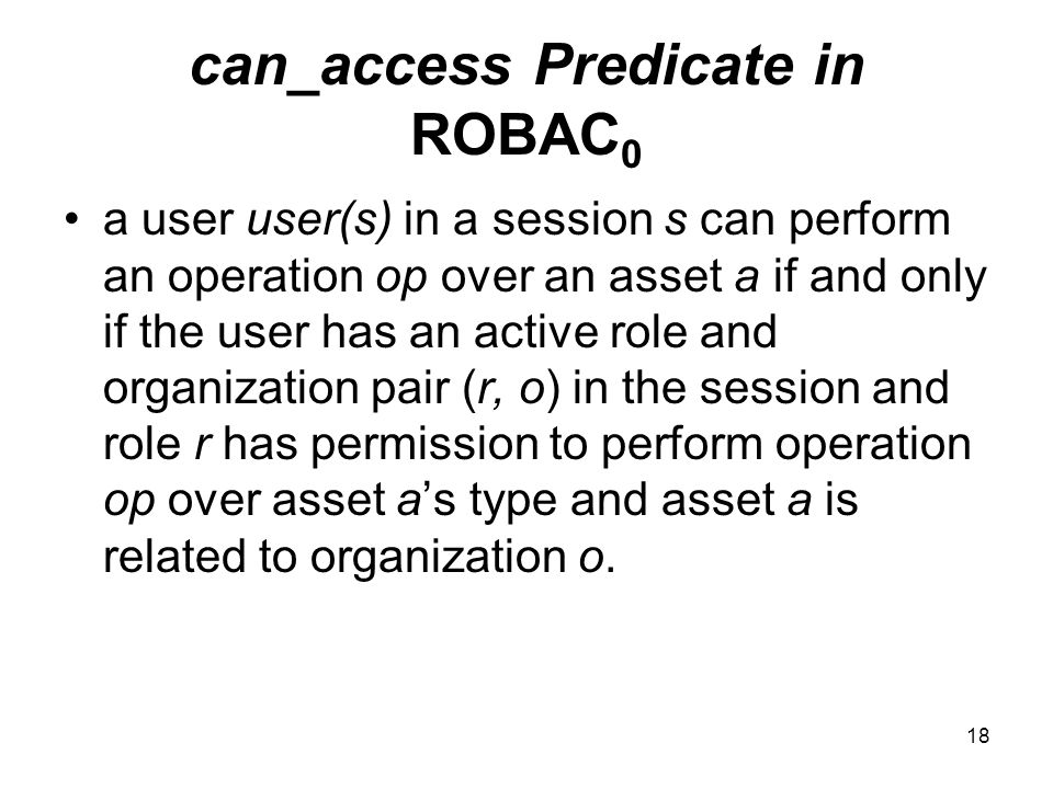 can_access Predicate in ROBAC0