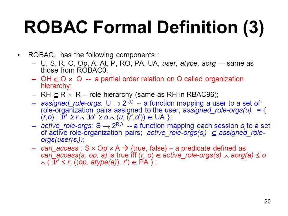 ROBAC Formal Definition (3)